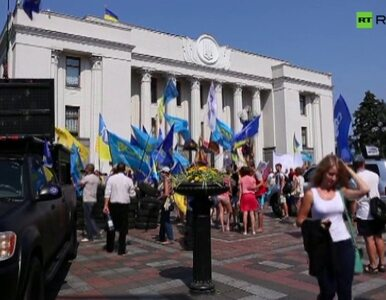 """""""Lustracja lub kastracja"""". Protest pod parlamentem w Kijowie"""