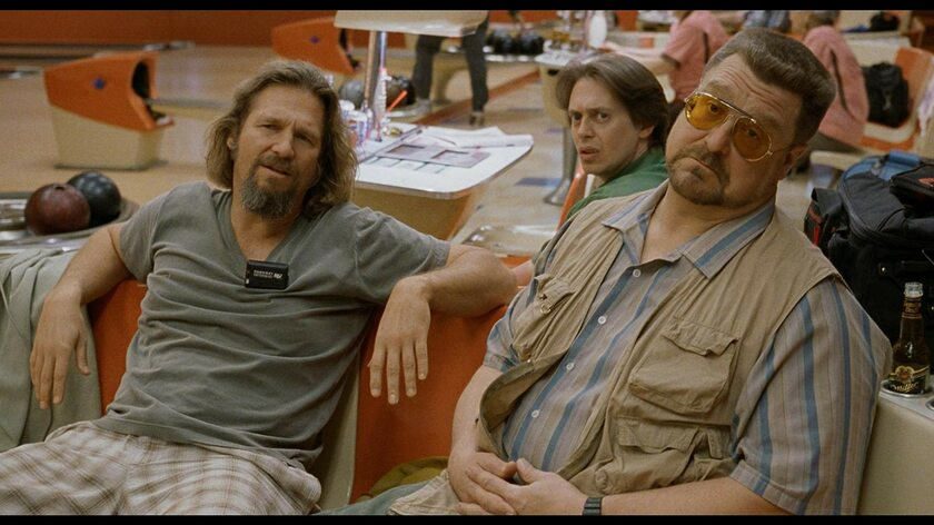 "Steve Buscemi, Jeff Bridges i John Goodman w filmie ""Big Lebowski"" (1998)"