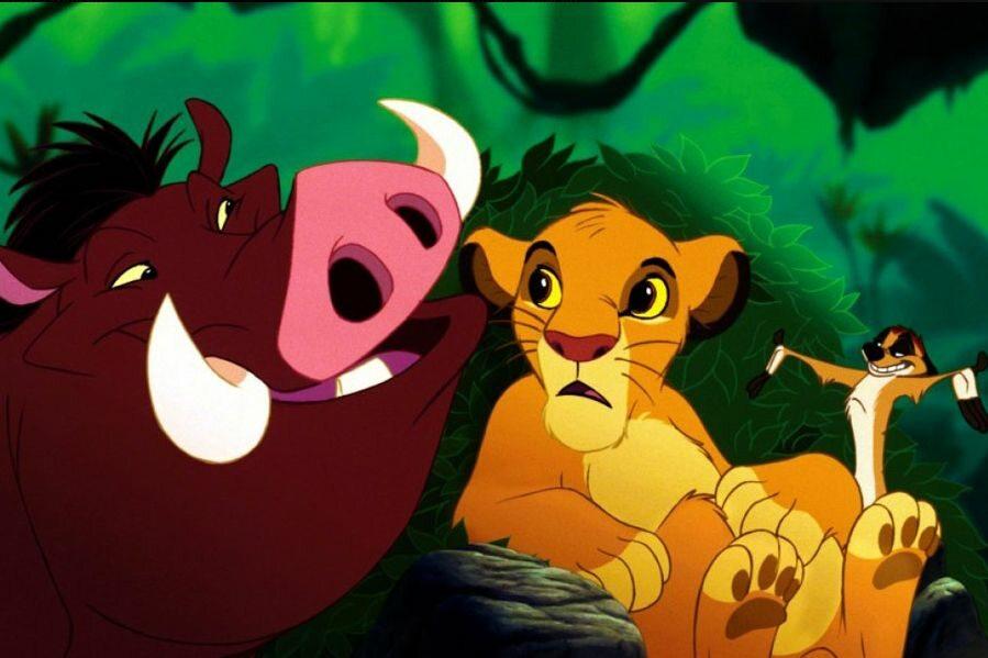 Jak nazywają się dwaj nierozłączni przyjaciele Simby?
