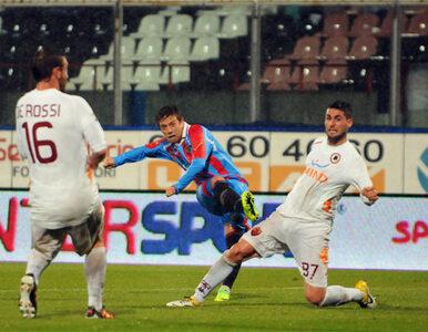 Mecz Catania-Roma wygrała... woda