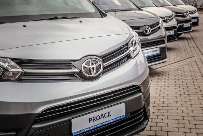 Samochody dostawcze Toyoty wToyota Professional Wesoła