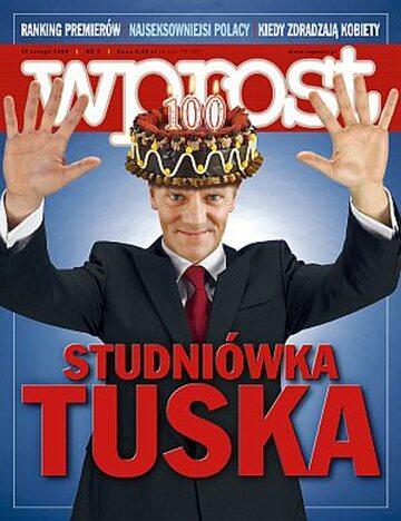 Okładka tygodnika Wprost nr 7/2008 (1312)