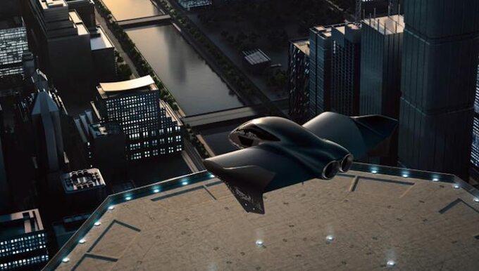 Wizja (render) artystyczna latającego auta