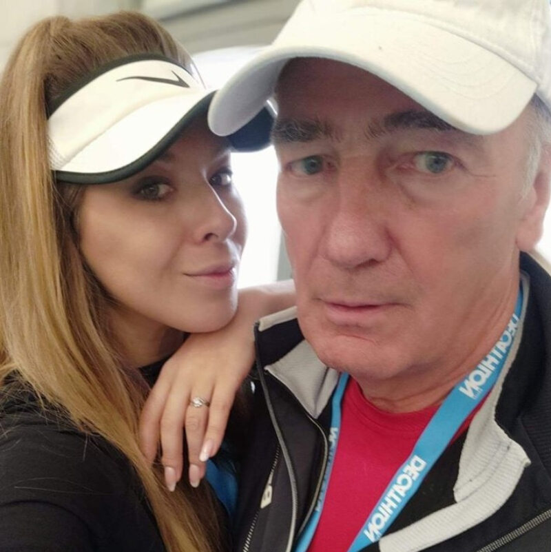 Karol Strasburger z żoną