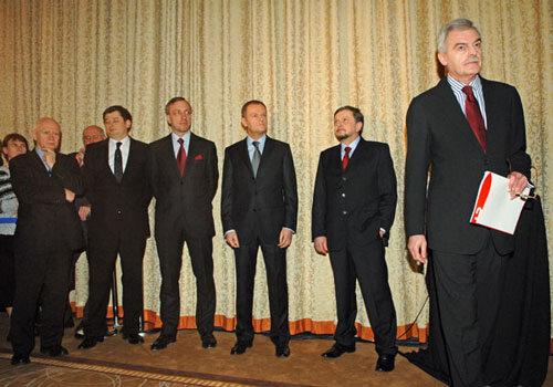 Człowiek Roku 2008 - Donald Tusk oraz m.in. Marek Król, Stanisław Janecki, Bogdan Zdrojewski