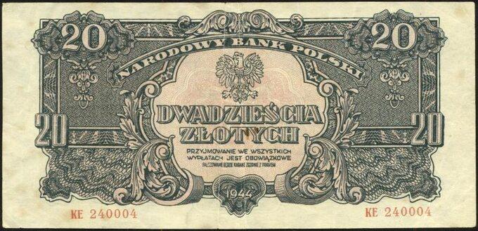 Bankont zserii lubelskiej -20 złotych