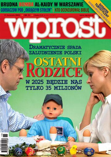 Okładka tygodnika Wprost nr 15/2004 (1115)