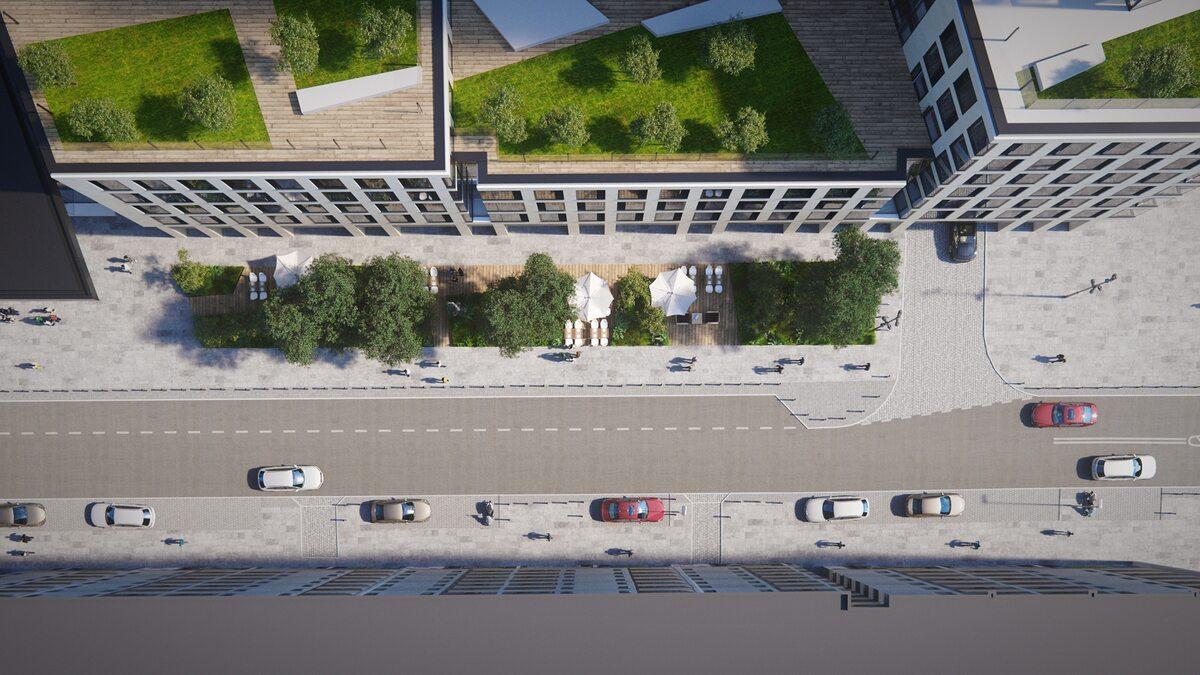 Ul. Chmielna przy Varso Place