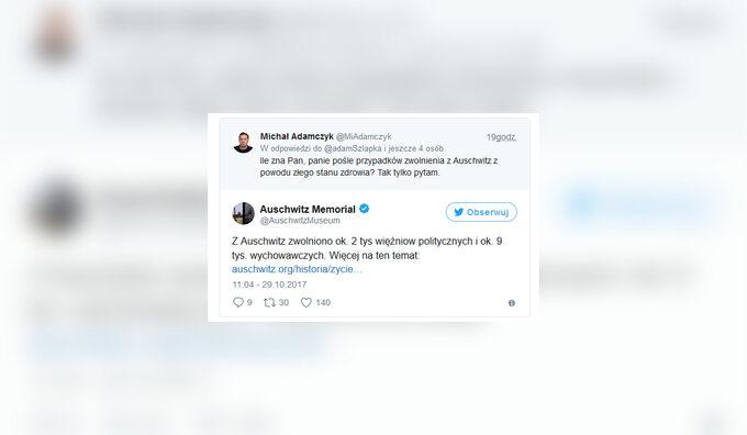 Wymiana zdań między dziennikarzem TVP aMuzeum Auschwitz