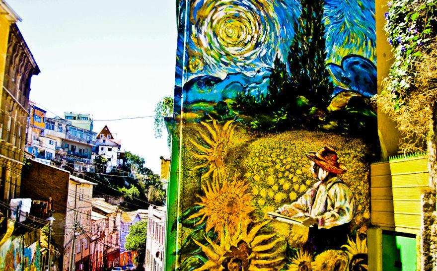 Valparaiso, Chile fot. boredpanda.com