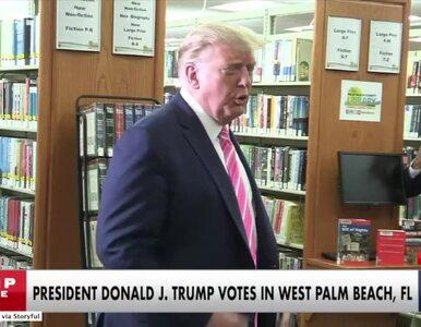 "Trump oddał głos stacjonarnie, na Florydzie. Na kogo? ""Na gościa o..."