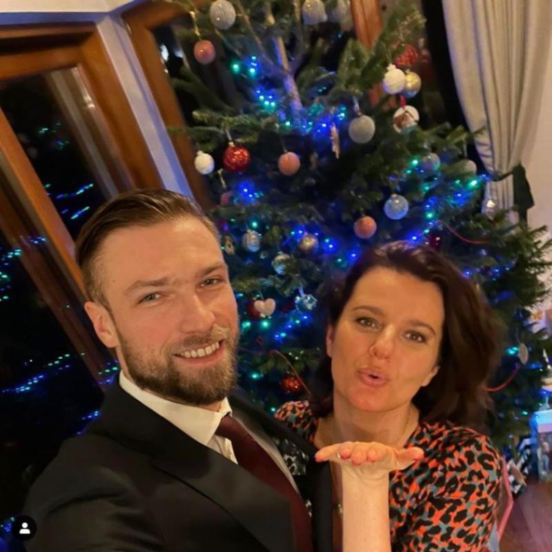 Aktorka Zofia Zborowska i jej mąż Andrzej Wrona