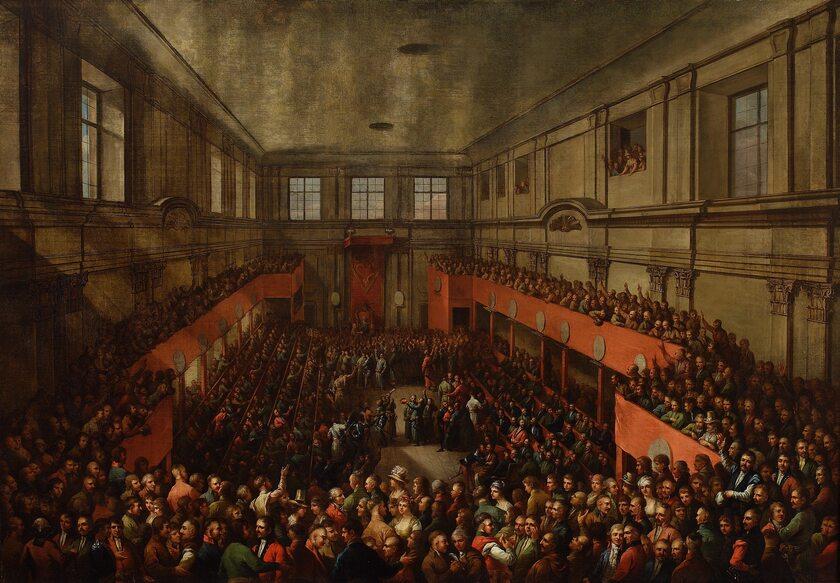 """Kazimierz Wojniakowski, """"Zaprzysiężenie Konstytucji 3 Maja, 1791"""""""