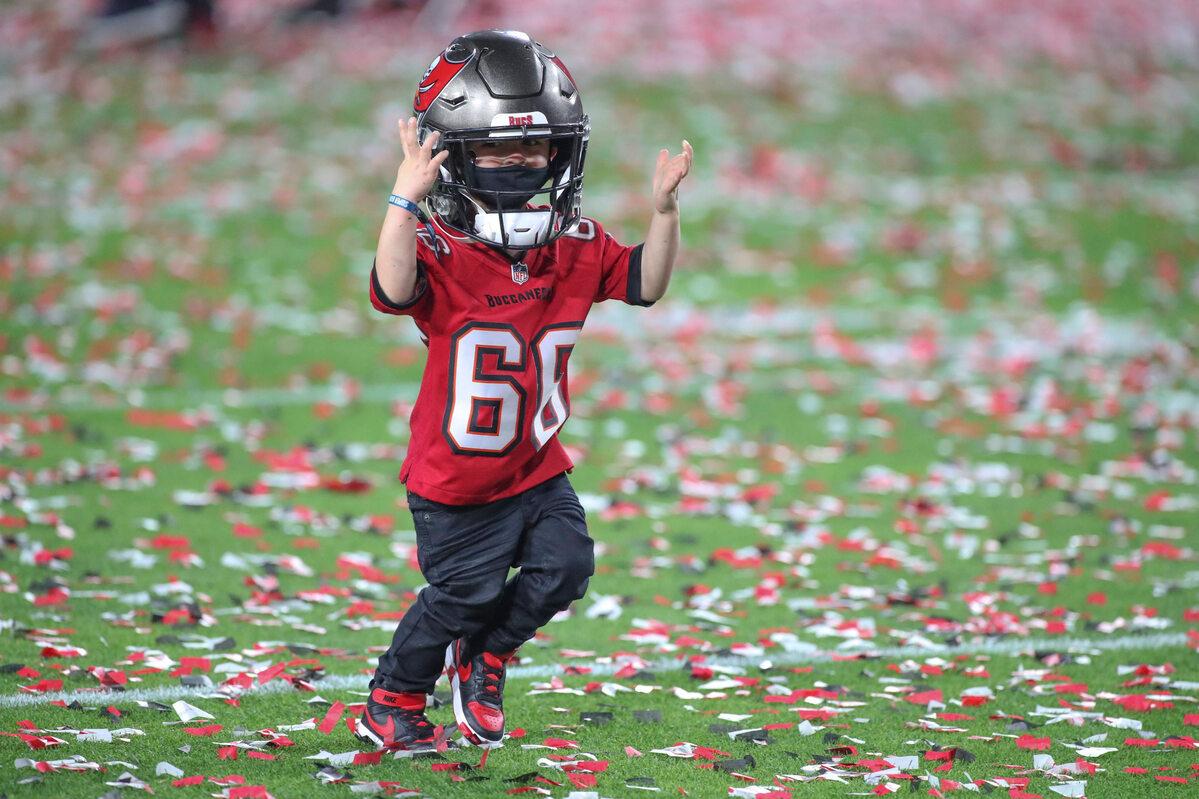 Mały kibic na Super Bowl 2021