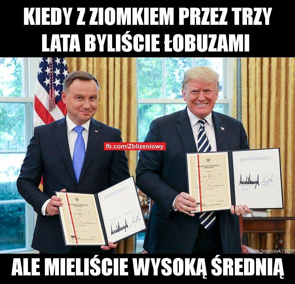 Mem po spotkaniu Duda-Trump