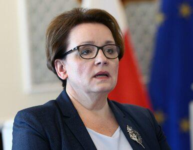 Minister Zalewska niespodziewanie zakończyła spotkanie z wyborcami....