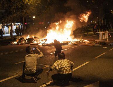 Pół miliona protestujących na ulicach Barcelony. Pożary i zablokowane ulice