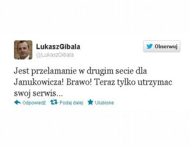 Gibała pomylił Janowicza z... Janukowyczem