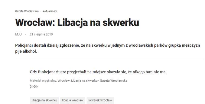 """Screen artykułu z""""Gazety Wrocławskiej"""""""