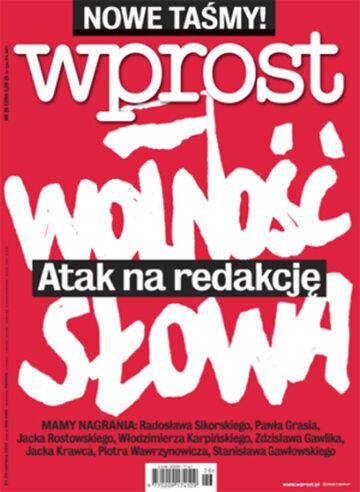 Okładka tygodnika Wprost nr 26/2014 (1634)