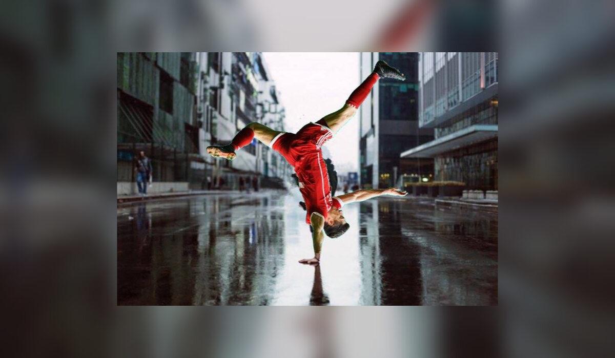 Robert Lewandowski breakdance