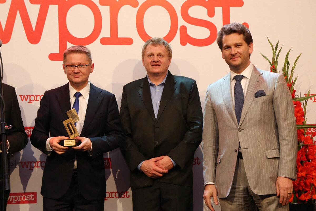 Prezes Zarządu Getin Noble Bank - Krzysztof Rosiński, Redaktor Naczelny Tomasz Wróblewski oraz Michał M. Lisiecki - Wydawca Wprost