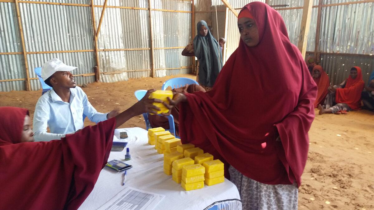 Somalia. Dystrybucja środków czystości