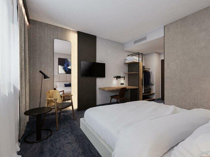 Wizualizacja - Pokój w hotelu Kopernik Olsztyn po renowacji