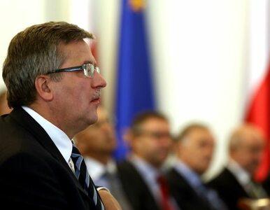 Komorowski przyjdzie do Sejmu posłuchać Tuska