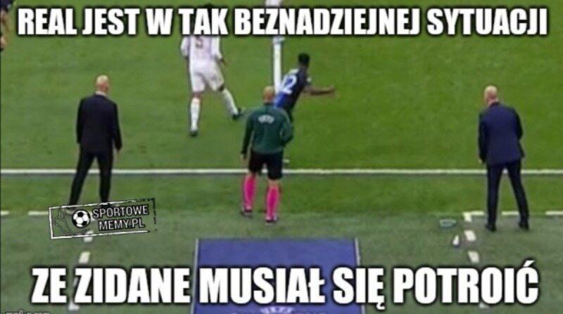 Mem po meczu Realu Madryt z Brugge