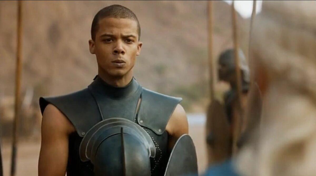 """Szary Robak po raz pierwszy w """"Grze o tron"""" W tę postać wciela się Jacob Anderson."""