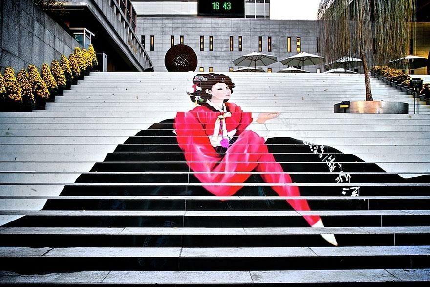 Schody do teatru muzycznego w Seulu, Korea Południowa (fot. Kimhwan SEOULIST)