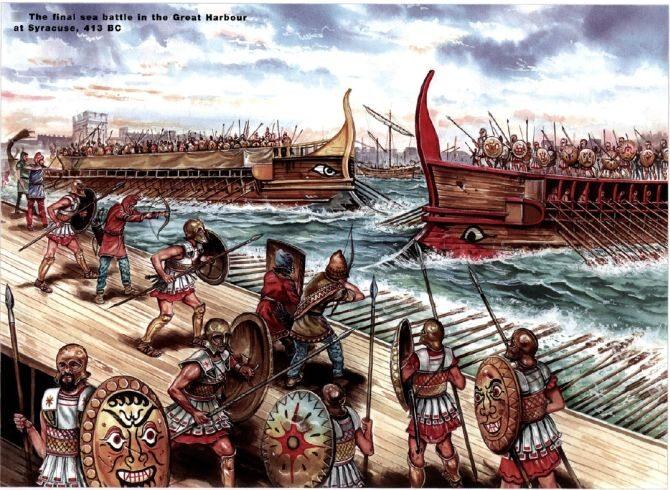 415 - 413 p.n.e. Wyprawa sycylijska. Nieudana próba przejęcia kontroli nad   Sycylią przez Ateny w czasie wojny peloponeskiej. (fot. domena publiczna/cimsec.org)