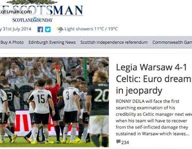 Szkockie media bez litości dla Celtiku po porażce z Legią