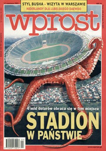 Okładka tygodnika Wprost nr 24/2001 (968)