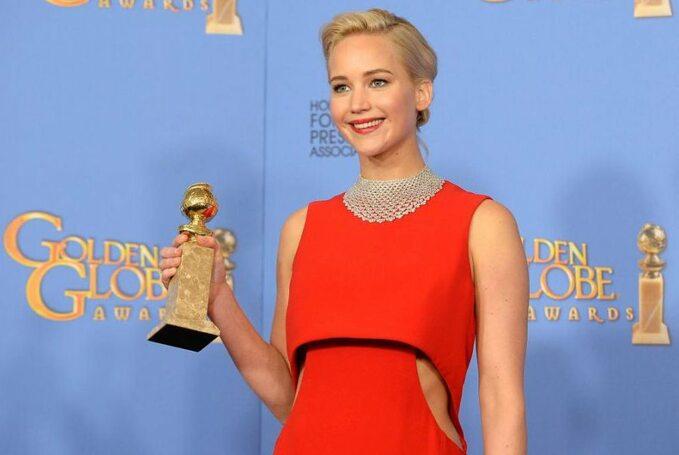 Jennifer Lawrence na73. gali wręczenia Złotych Globów