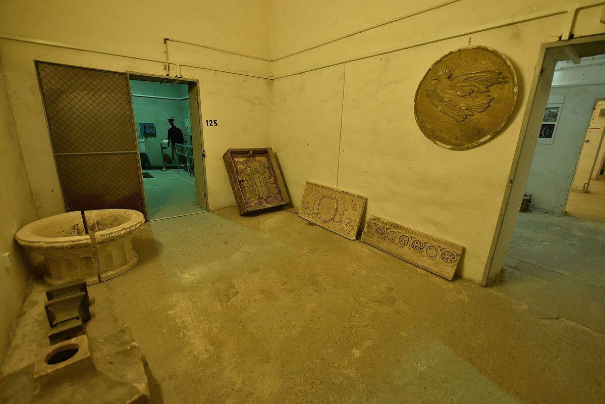 Fragment wystawy poświęconej historii Pałacu Kultury i Nauki na poziomie –2