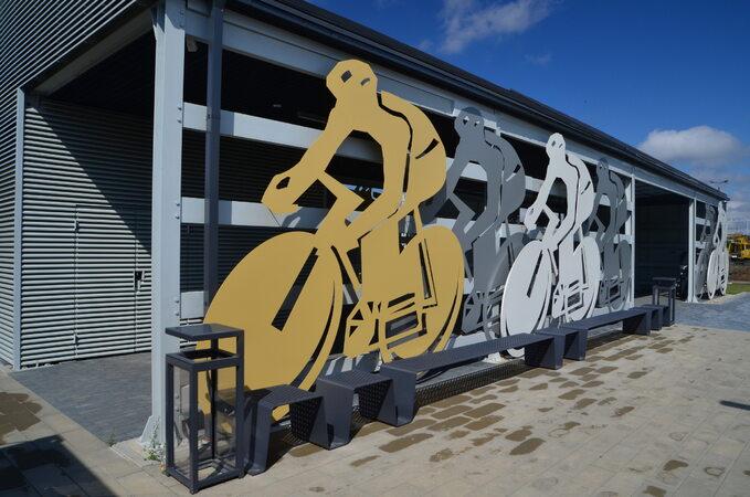 Wiata rowerowa przy Zamku wNidzicy
