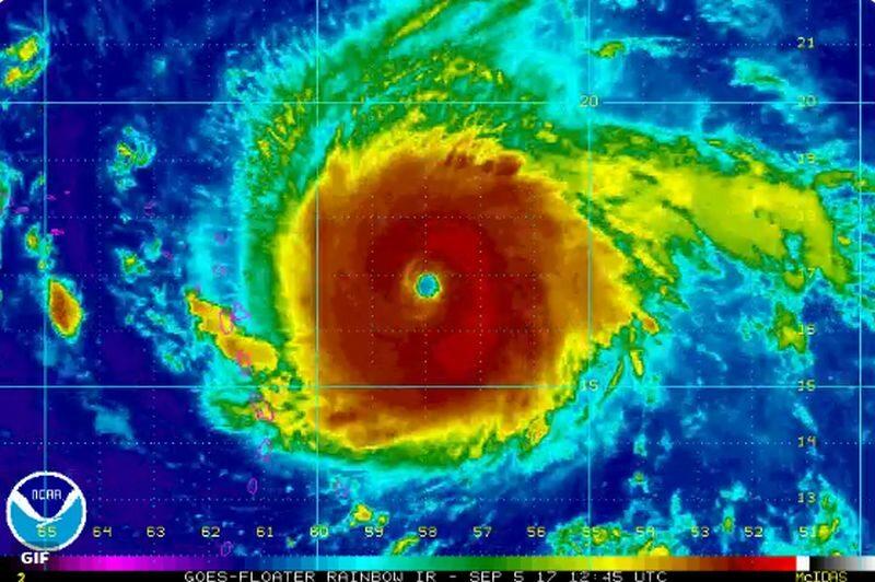 Huragan Irma na monitorach NHC