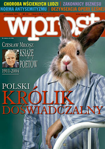 Okładka tygodnika Wprost nr 34/2004 (1134)