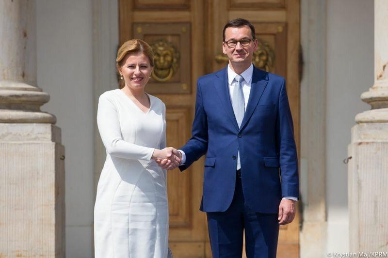 Zuzana Čaputova i Mateusz Morawiecki