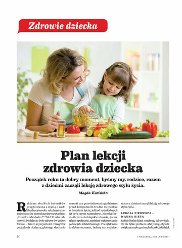Okładka Raport Wprost – Zdrowie Dziecka (2018 r.)