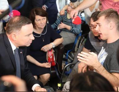Protest opiekunów niepełnosprawnych dzieci. Przypomnieli Andrzejowi...