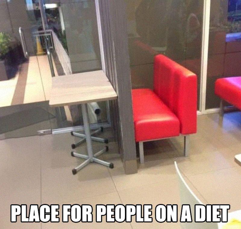 Miejsce dla ludzi na diecie
