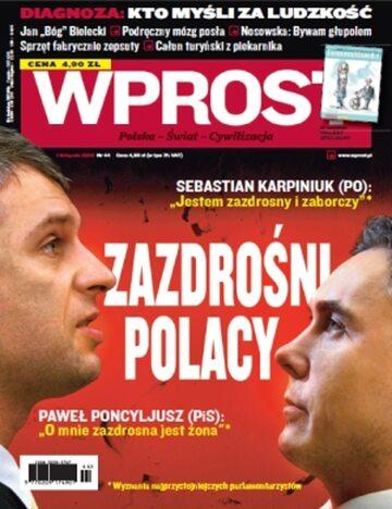 Okładka tygodnika Wprost nr 44/2009 (1397)
