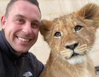 Robi sobie selfie z żyrafami i lwami. Opiekun zwierząt pokazał, jak...