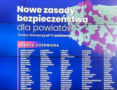152 miasta i powiaty w czerwonej strefie. Oto aktualna lista