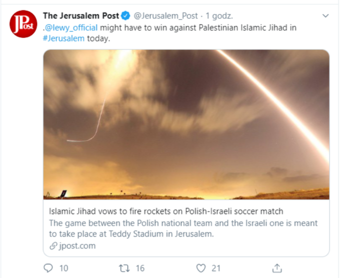 "Post na Twitterze ""Jerusalem Post"""