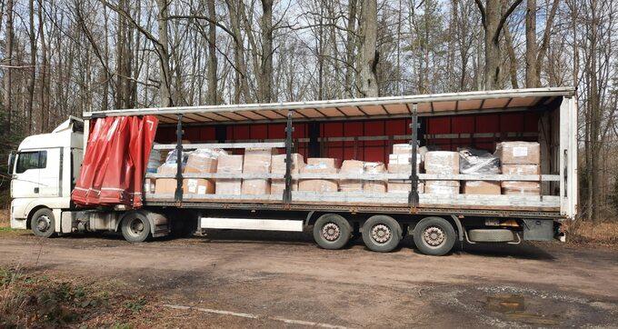 Ciężarówka zprezentami odzooplus