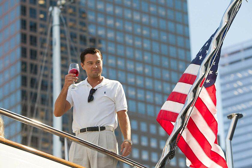 """Leonardo DiCaprio w filmie """"Wilk z Walll Street"""" (2013)"""